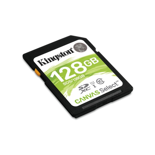 Image of   128GB SDHC Canvas Select 80R CL10 UHS-I
