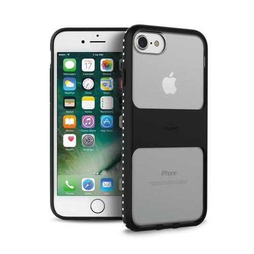 Billede af Puro Impact Pro Magnet Shield iPhone 8 / 7 / 6S sort/transparent