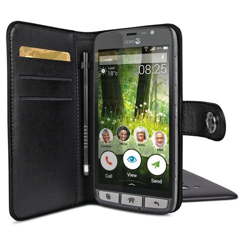 Billede af Doro Liberto 825 Smart magnetisk wallet cover Sort