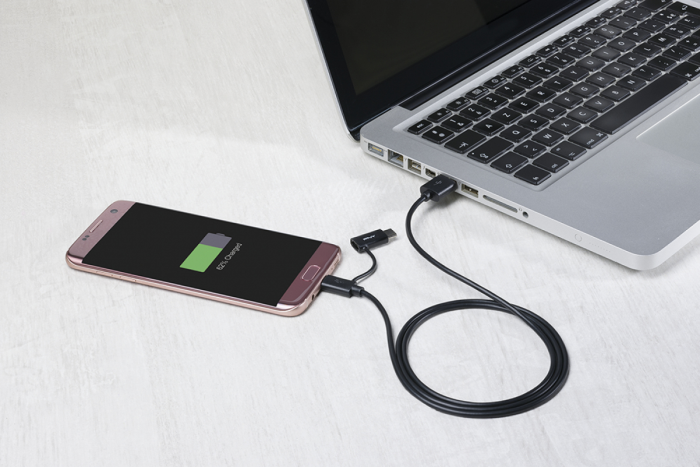 Image of   2 IN 1 MICRO USB / TYPE-C 2.0 (1M BLACK)