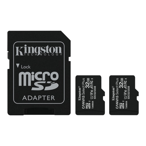 Image of   2 x 32GB micSDHC C Select+ 100R A1 C10 Card +Adpt.
