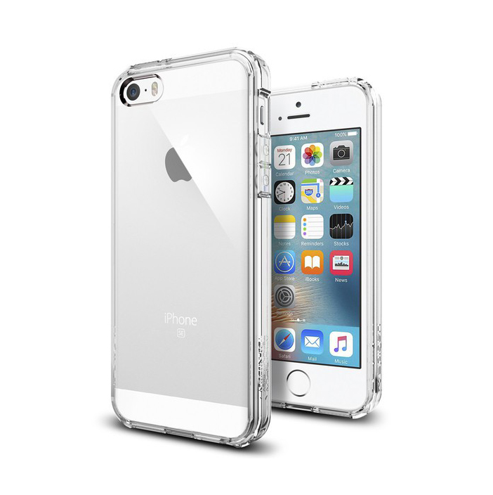 Spigen Ultra Hybrid for iPhone 5 5S SE clear crystal clear tilbud ... 5e4c8fcc4bfe6