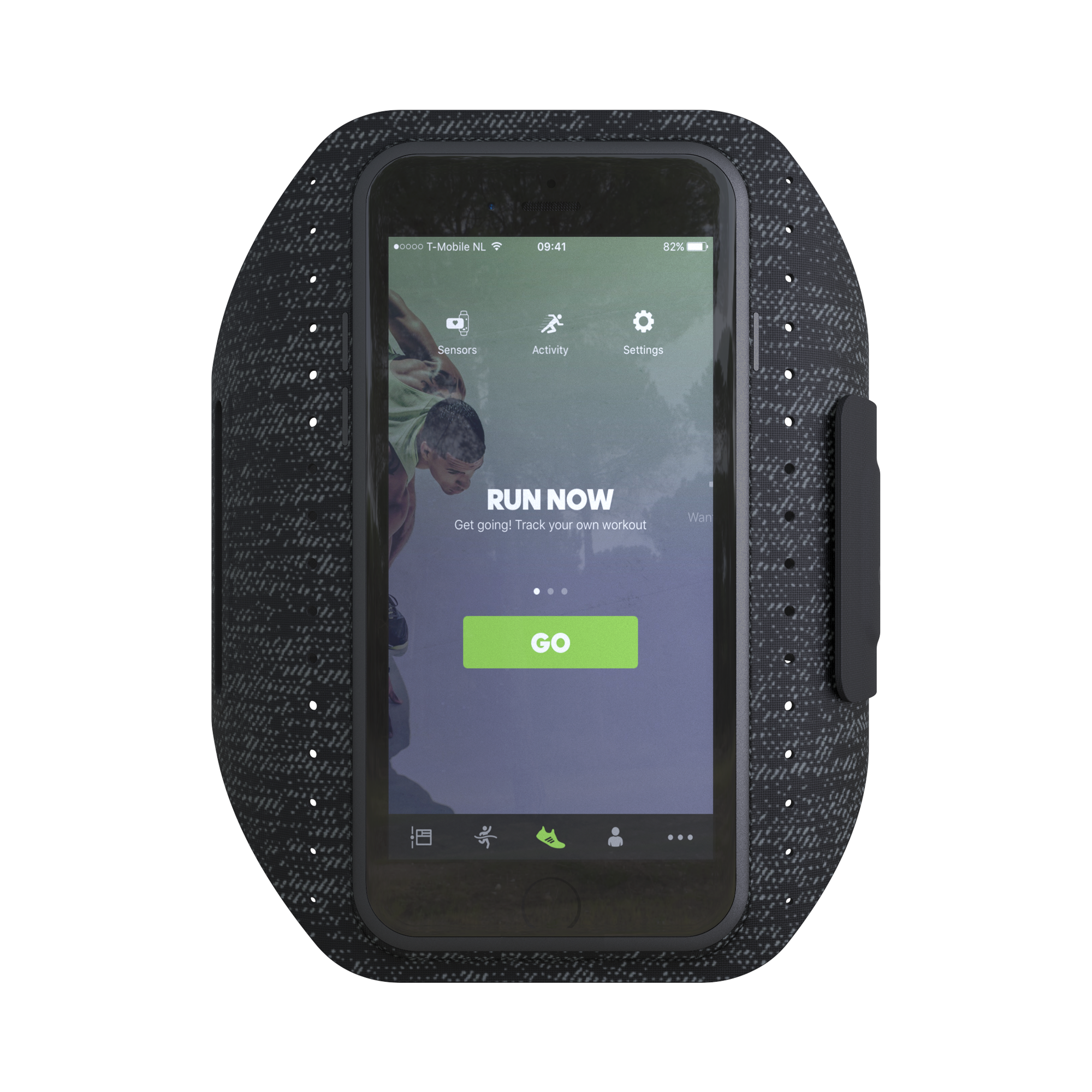 Image of   Adidas Sport Armbånd til iPhone 6S/7/8 Sort