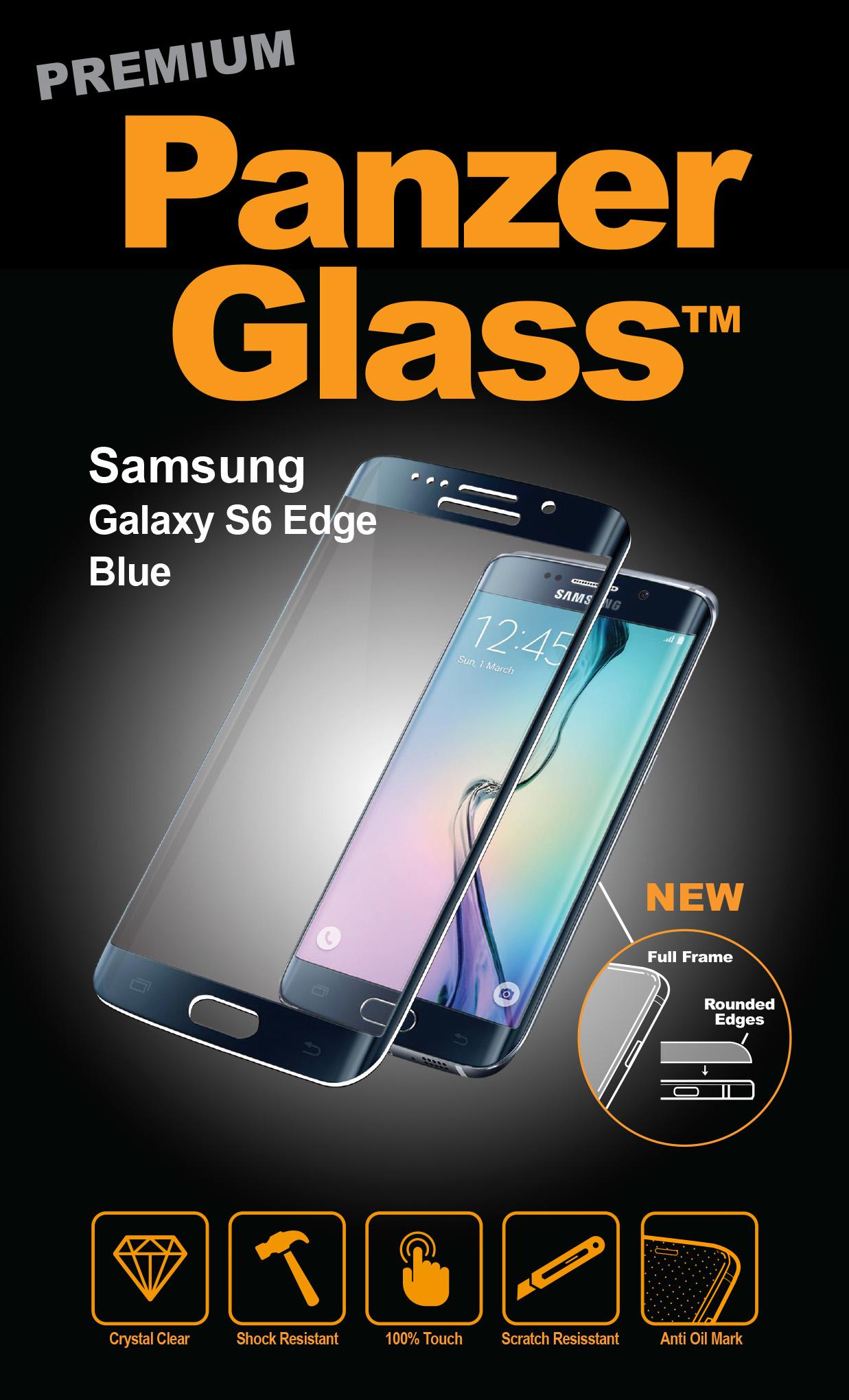 Billede af Panzer Glass Sikkerhedsglas Full Fit til Samsung Galaxy S6 Edge Blå