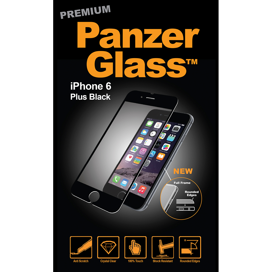 Billede af Panzer glass Sikkerhedsglas Premium iPhone 6/6S Plus med Sort Ramme