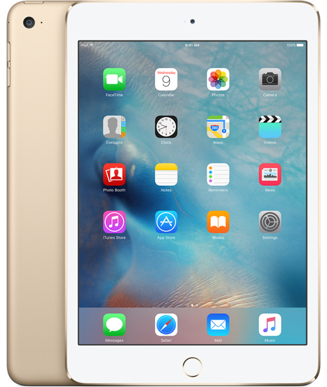 Image of   Apple iPad Mini 4 Wi-Fi + Cellular 128GB Guld MK782KN/A