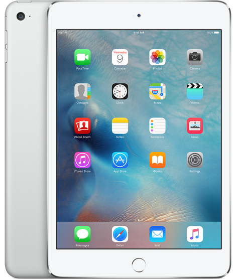 Image of   Apple iPad Mini 4 Wi-Fi 128GB Sølv MK9P2KN/A