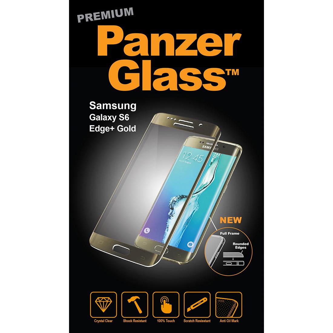 Billede af Panzer Glass Sikkerhedsglas Premium til Samsung Galaxy S6 Edge+ Plus Guld
