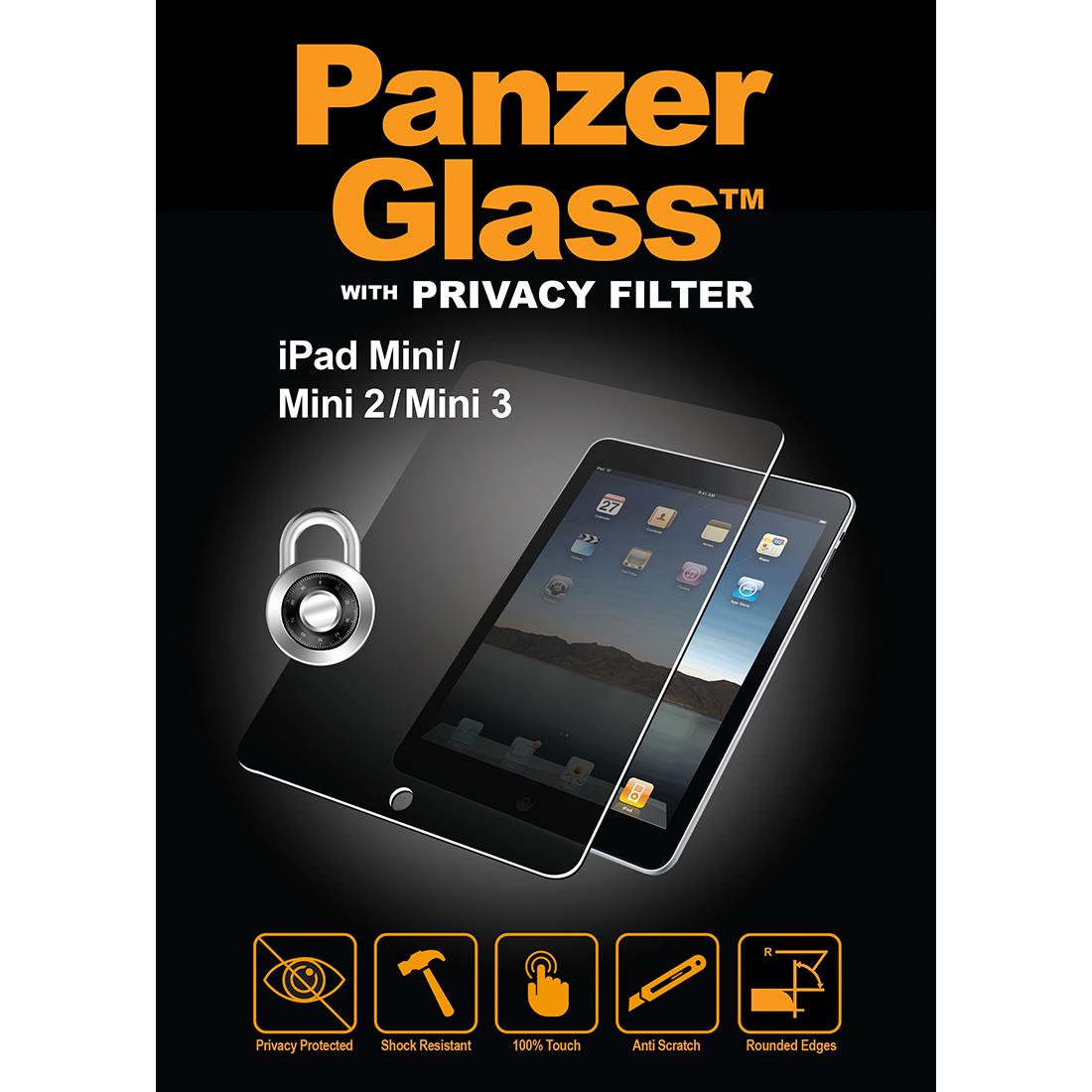 Billede af Panzer Glass Sikkerhedsglas Apple iPad Mini 1/2/3 med Privacy Filter