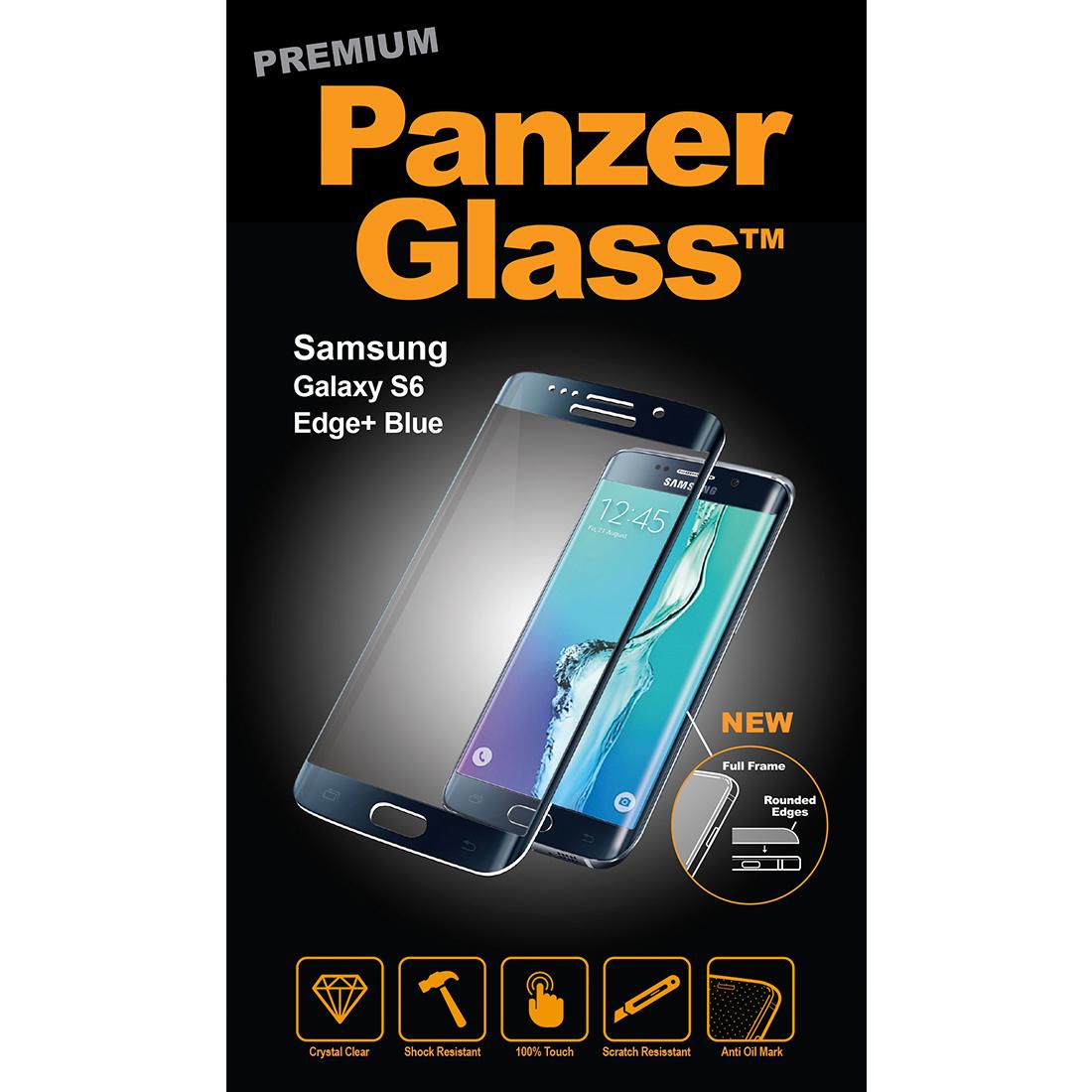 Billede af Panzer Glass Sikkerhedsglas Premium til Samsung Galaxy S6 Edge+ Plus Blå