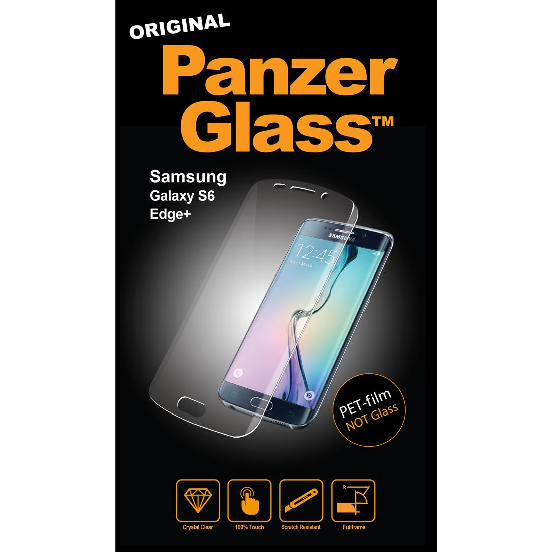 Image of   Panzer Glass PET-film (ikke sikkerhedsglas) til Samsung Galaxy S6 Edge+ Plus