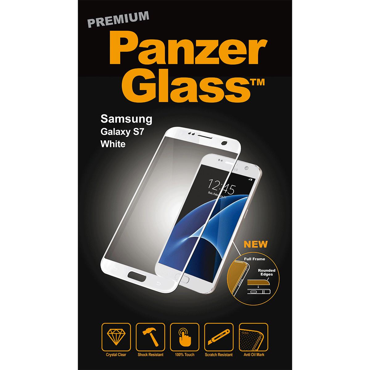 Billede af Panzer Glass Sikkerhedsglas Premium til Samsung S7 Hvid Full Fit