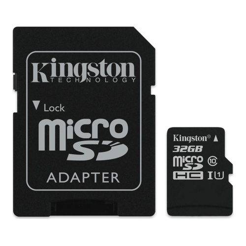 Image of   32GB microSDHC 80R CL10 UHS-I Card Incl. Adapter