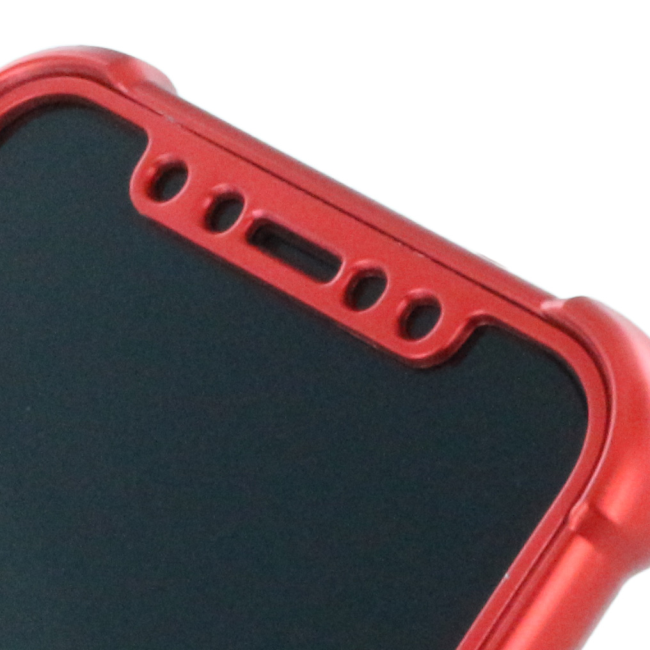 Image of   360 Degree - Protective Cover - Apple iPhone X - Metallic Red