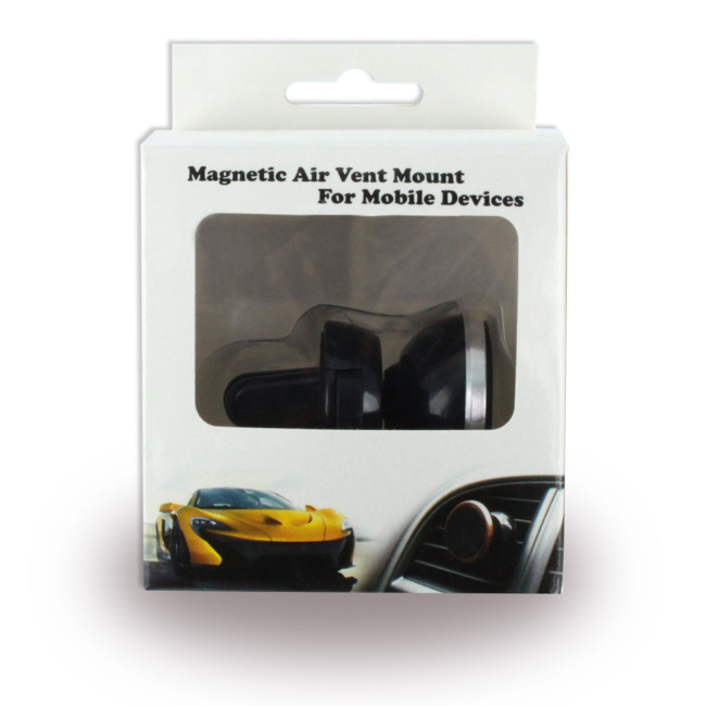 Image of   360 Degree - Rotating Magnetic Phone Holder / Air Vent Mount - Upto 10cm - Black