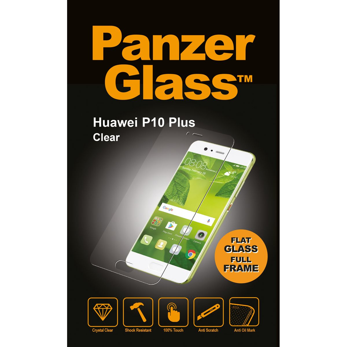 Billede af Panzer Glass Sikkerhedsglas Huawei P10 Plus Full Frame Clear