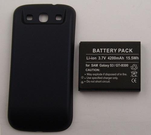 Image of   4.200 mAh batteri til Samsung Galaxy S3 Ekstra kraftigt