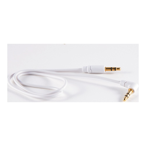 Billede af Audio cable 35mm angled male / straight male White 05m