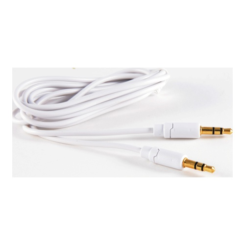 Billede af Minijack Cable 35mm Male - Male White Stereo 3m