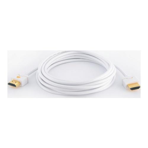 Billede af Qnect HDMI kabel High Speed med Ethernet ultra slim hvid 3m
