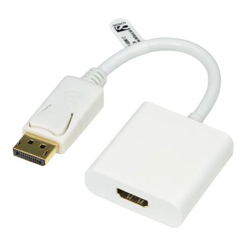 Billede af Qnect DisplayPort han - HDMI hun adapter m/audio Hvid 02m