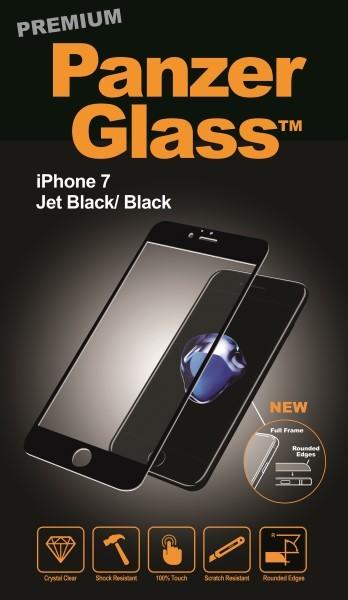 """Billede af Panzer Glass Sikkerhedsglas Premium iPhone 7 (47"""") Sort"""
