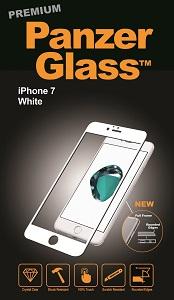 """Billede af Panzer Glass Sikkerhedsglas Premium iPhone 7 (47"""") med hvid kant"""