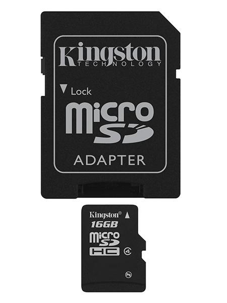 Image of   KINGSTON 16GB microSDHC Class 4 SP