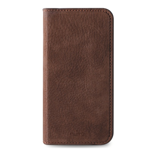 Puro iPhone 6 Plus Flip Cover Leather Magnetic 3slots DrkBrn