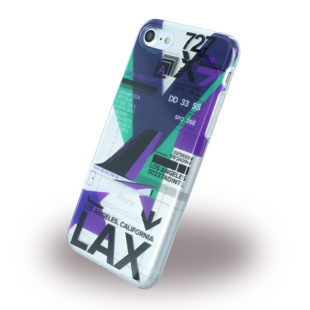 Billede af Benjamins - BJ7AIRLAX AirPort LAX (Los Angeles) - Silicone Cover / Phone Skin - Apple iPhone 7
