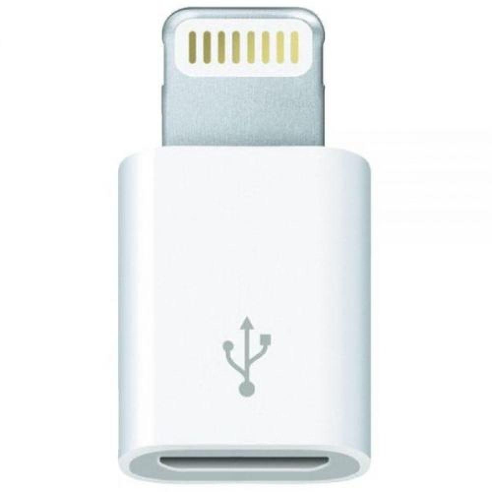 Billede af Apple Lightning to Micro USB Adaptor in White - Bulk