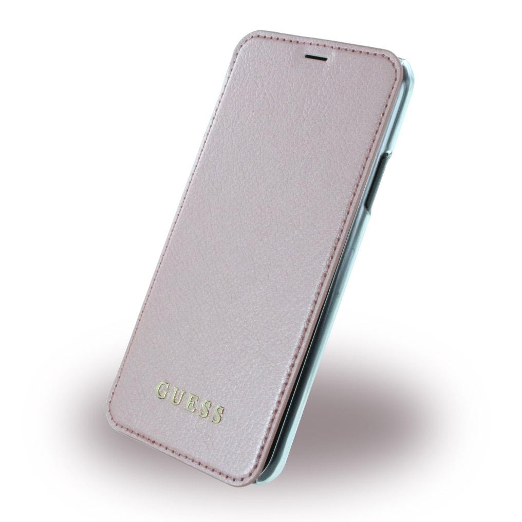 Billede af Guess Kunstlæder Wallet cover iPhone X Pink