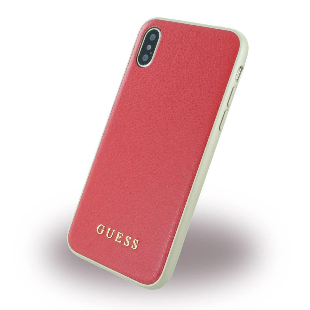 Billede af Guess Hardcase Kunstlæder cover iPhone X Rød