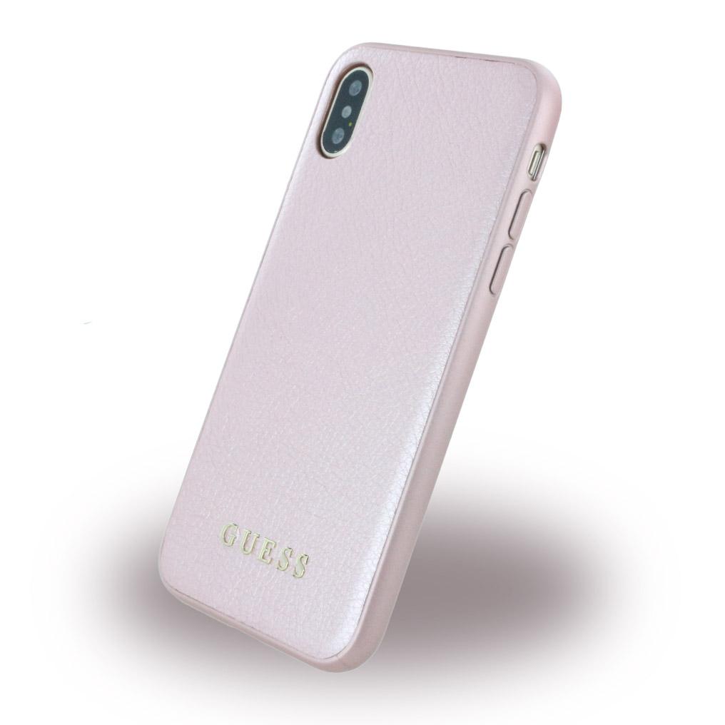Billede af Guess Hardcase Kunstlæder cover iPhone X Pink