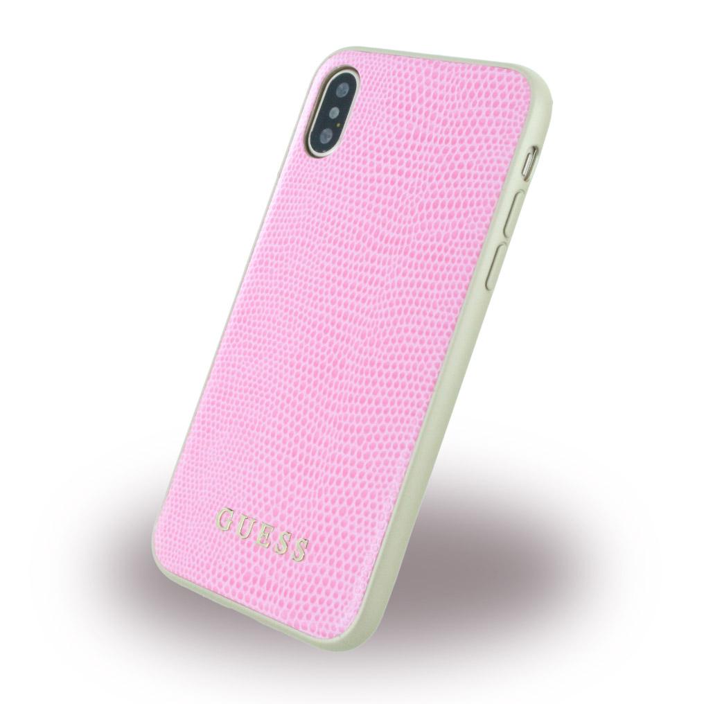 Billede af Guess Python Kunstlæder Hardcase cover iPhone X Pink