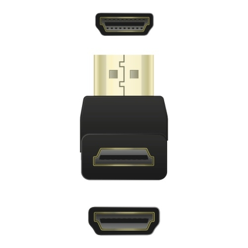 Image of   Adapter HDMI A male - HDMI A female angled