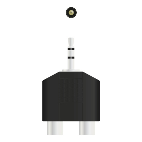 Image of   Adapter Minijack 3.5 male - 2xRCA female