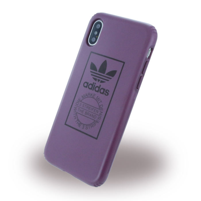 Image of   Adidas - Originals Technique - Hard Cover - Apple iPhone X - Maroon (Violette)