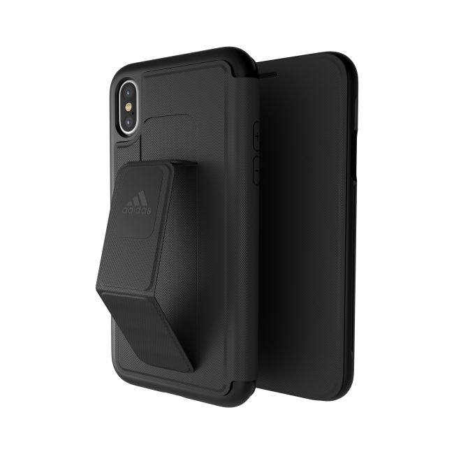 Image of   adidas SP Folio Grip Case for iPhone X black