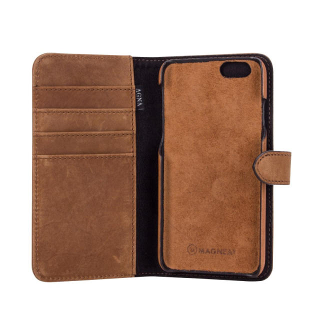 Image of   AGNA WalletCase L cognac brown