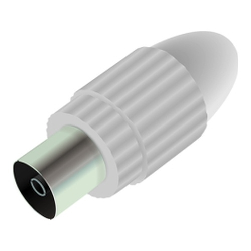 Image of   Antenna connector male straight White