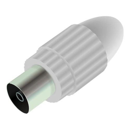 Image of   Antenna plug female straight 10.5mm White