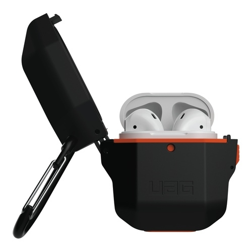 Image of Apple Airpods Hard Case Black/Orange