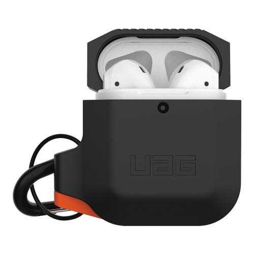Image of Apple Airpods Silicone Case Black/Orange
