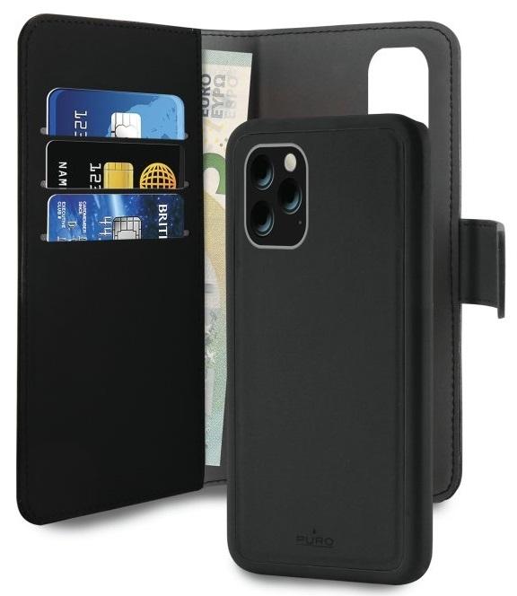 Image of Apple iPhone 11 Pro Magnet pung taske og cover 2-i-1 fra Puro - Sort