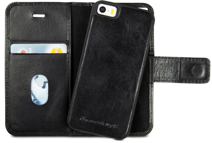 Image of Apple iPhone 5/5S/SE Læder Cover 2-i-1 Dbramante Lynge Sort