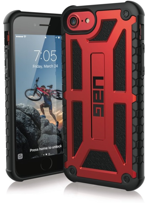 Image of   Apple iPhone 6/6S/7/8 Cover UAG Monarch Rød Sort