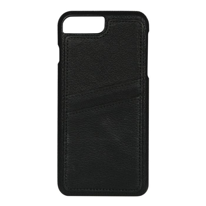 Image of   Apple iPhone 6 Plus/6S Plus/7 Plus/8 Plus Læder Cover med kortholder - Sort