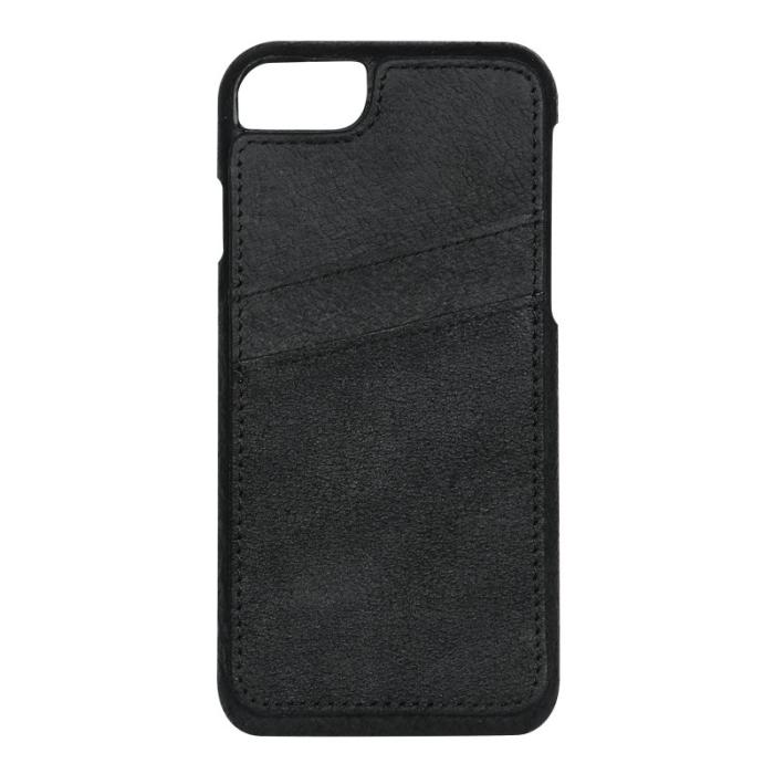 Image of   Apple iPhone 6S/7 Læder Cover med kortholder - Sort
