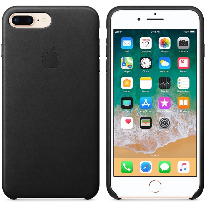 Image of   APPLE IPHONE 7/8 PLUS LEATHER CASE BLACK MQHM2ZM/A